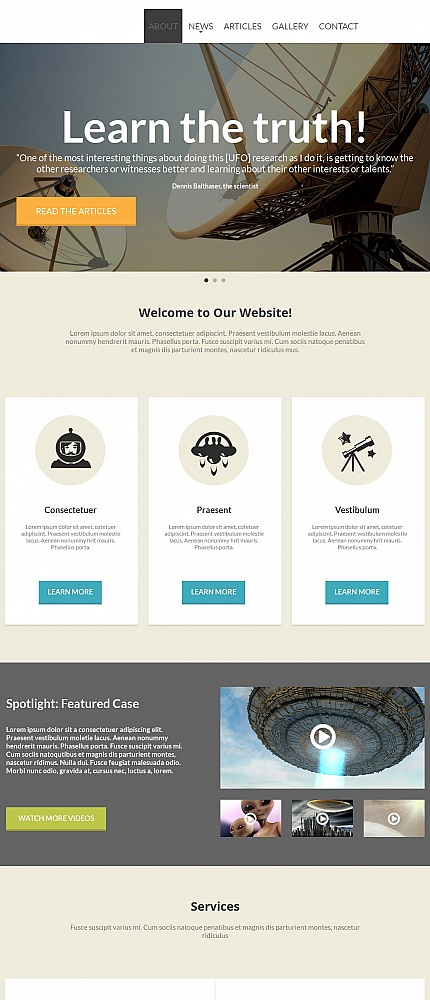 ADOBE Photoshop Template 54675 Home Page Screenshot