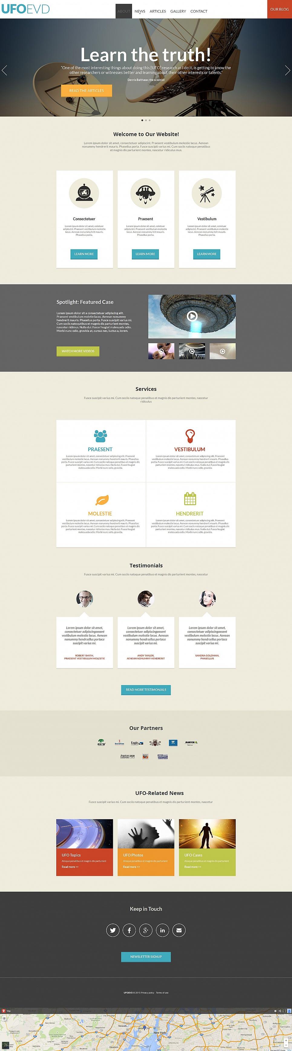 Science Website Design - image