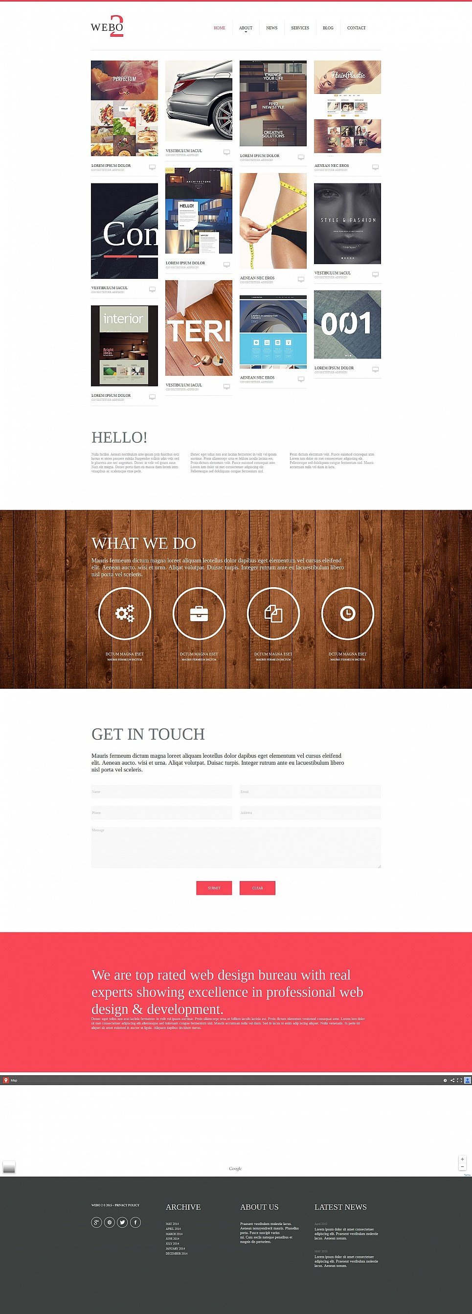 Web Design Site with Grid Catalog - image