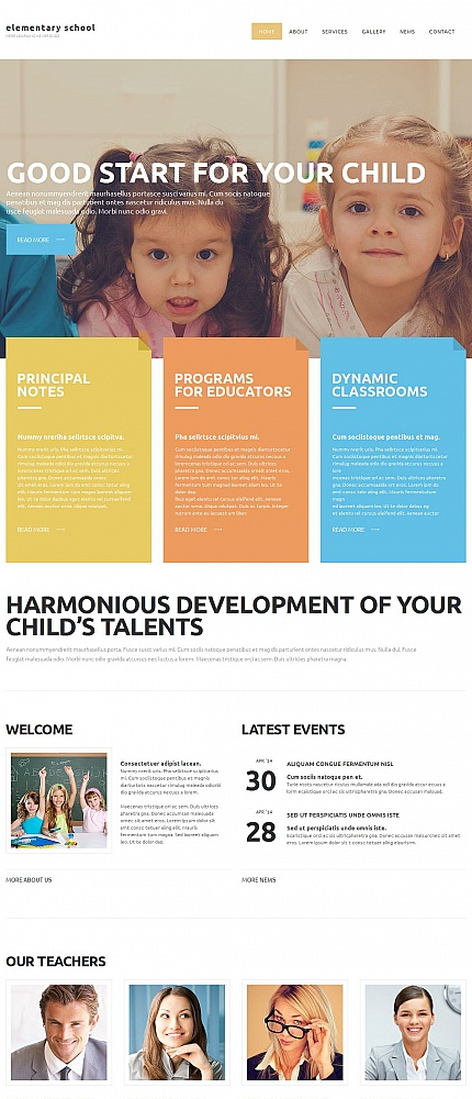 ADOBE Photoshop Template 54679 Home Page Screenshot
