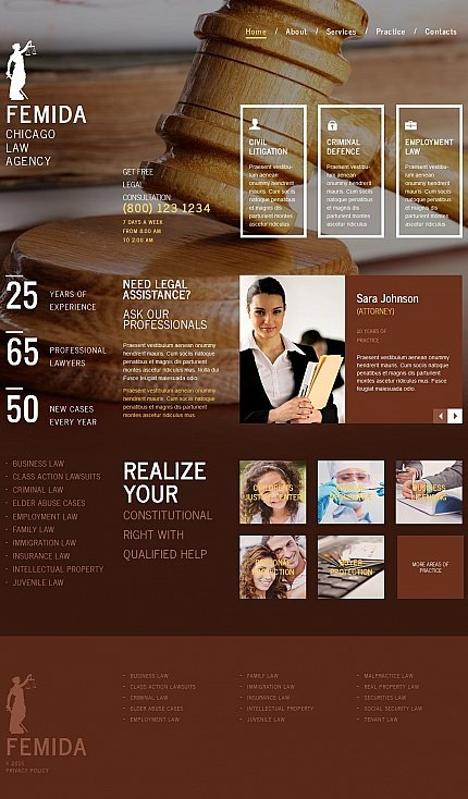 ADOBE Photoshop Template 54681 Home Page Screenshot