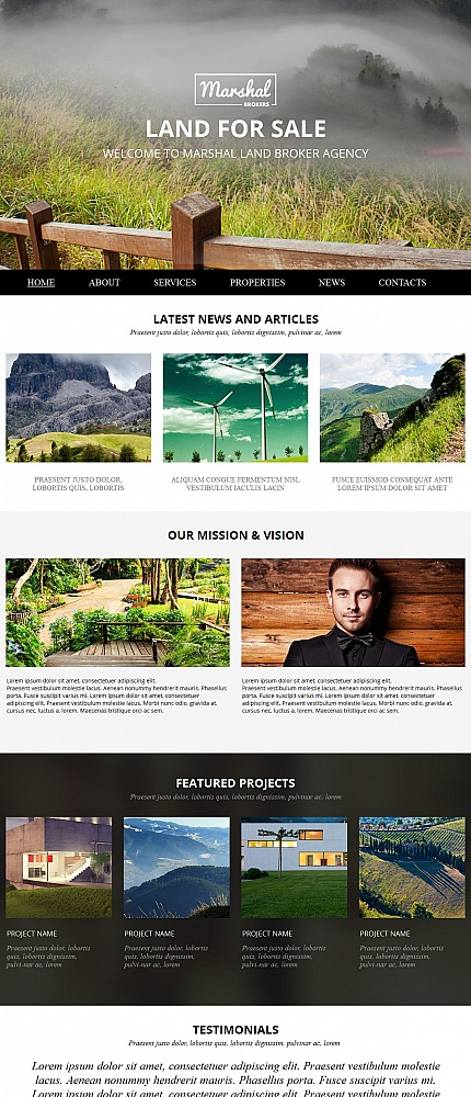ADOBE Photoshop Template 54682 Home Page Screenshot