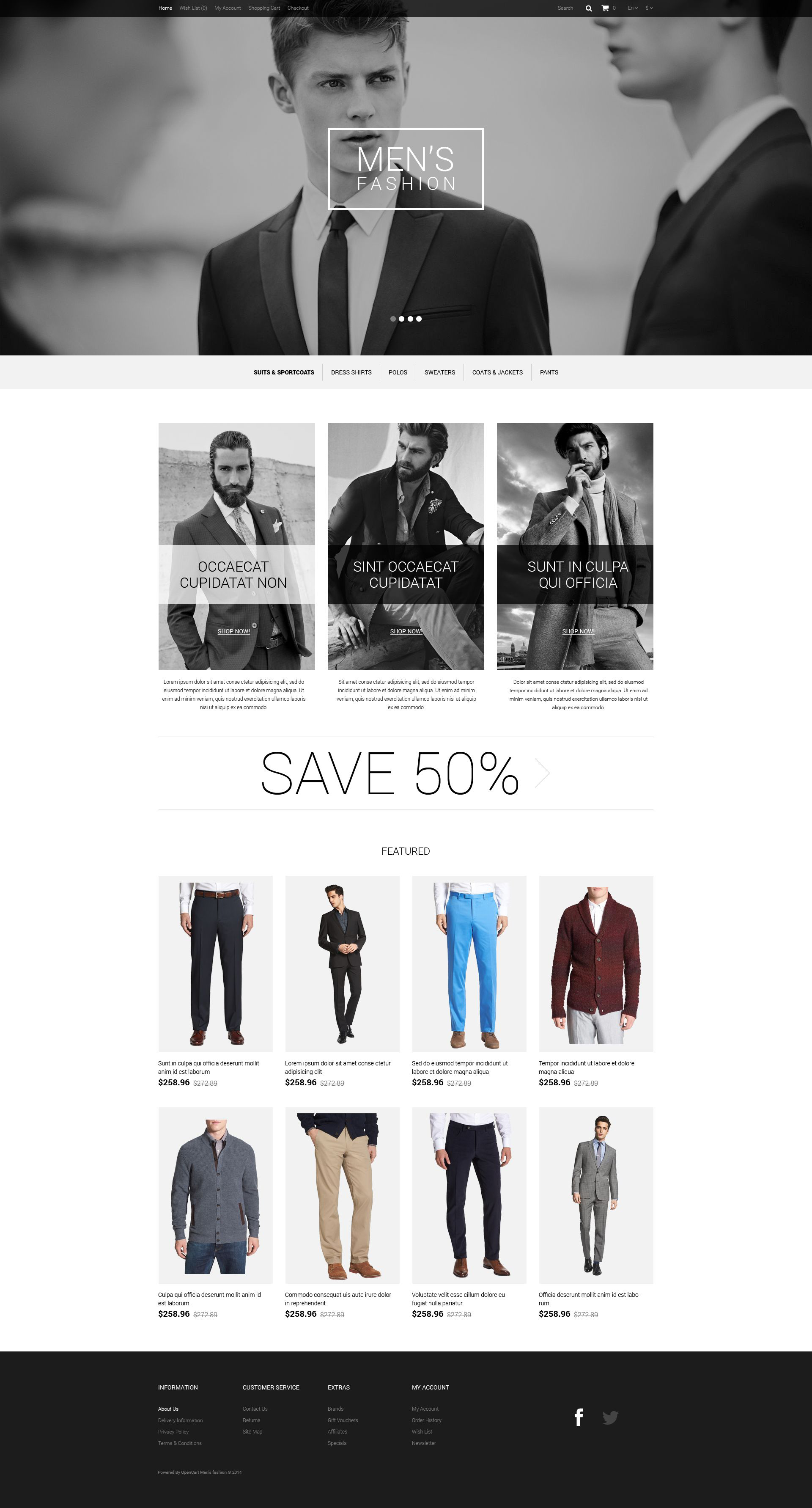 The Men's Fashion New OpenCart Design 54684, one of the best OpenCart templates of its kind (fashion, most popular), also known as Men's fashion new OpenCart template, style OpenCart template, brand OpenCart template, lingerie company OpenCart template, women OpenCart template, sexy classic OpenCart template, stylish  different OpenCart template, nails OpenCart template, SPA cosmetic OpenCart template, health care OpenCart template, hair and related with Men's fashion new, style, brand, lingerie company, women, sexy classic, stylish  different, nails, SPA cosmetic, health care, hair, etc.