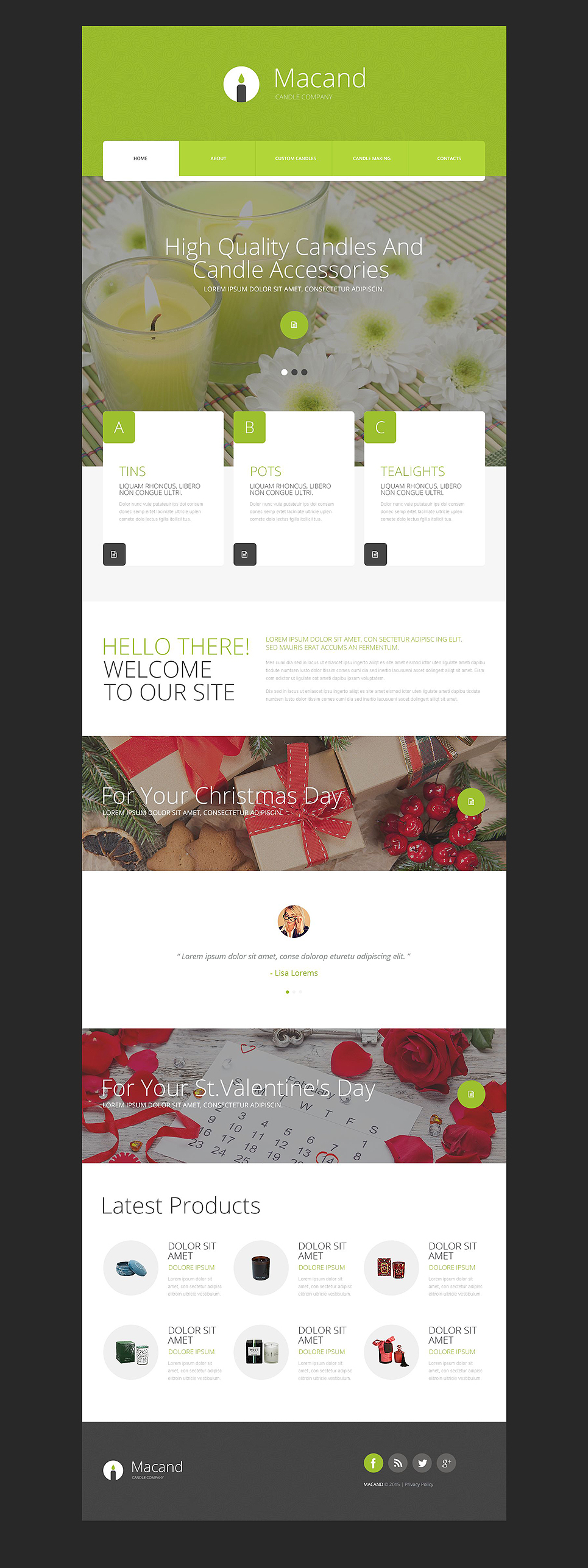 Gifts Store template illustration image
