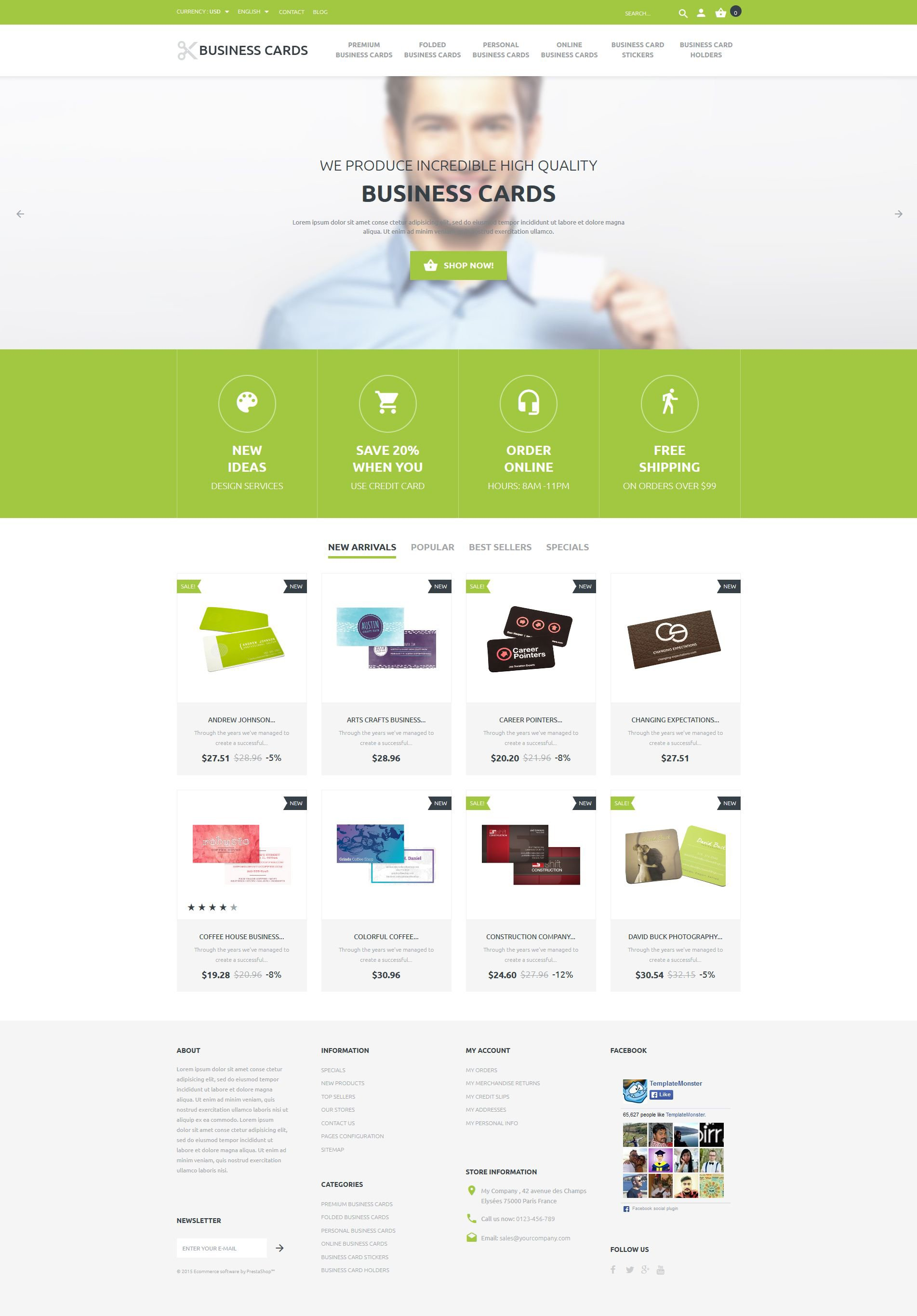 The Business Special Cards PrestaShop Design 54688, one of the best PrestaShop themes of its kind (business, most popular), also known as business special cards PrestaShop template, services PrestaShop template, products PrestaShop template, shopping cart PrestaShop template, style PrestaShop template, prices and related with business special cards, services, products, shopping cart, style, prices, etc.