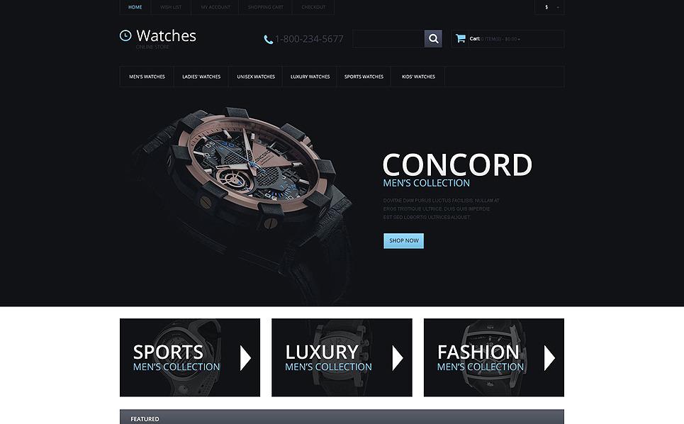 Responsive OpenCart Template over Horloges  New Screenshots BIG