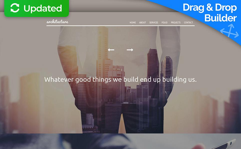 Адаптивний MotoCMS 3 шаблон на тему архітектура New Screenshots BIG
