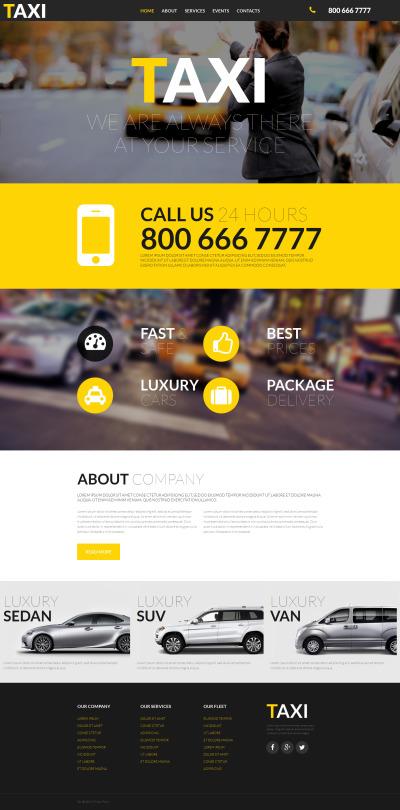 Taxi Responsive MotoCMS 3 шаблон