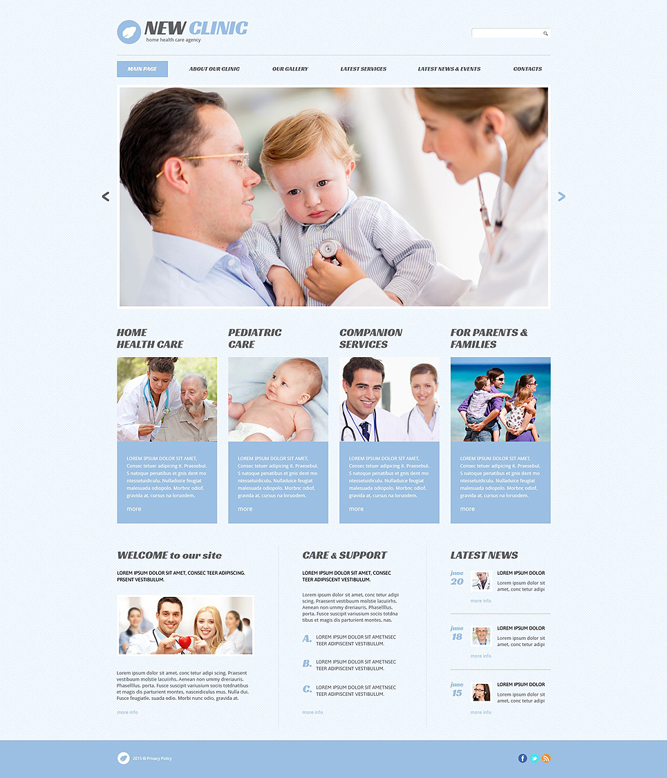 Адаптивный шаблон сайта на тему медицина #54643