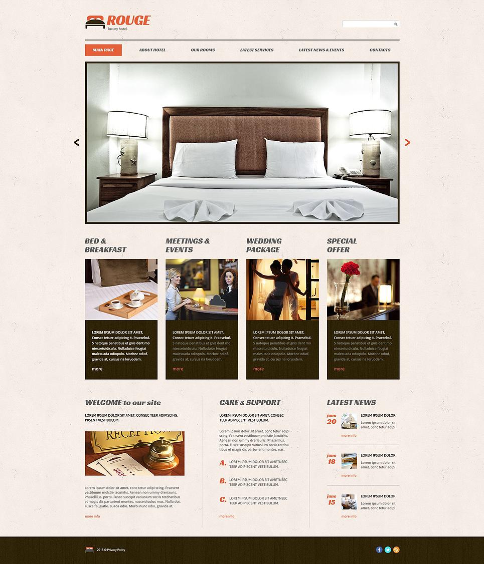 Адаптивный шаблон сайта на тему отели #54645