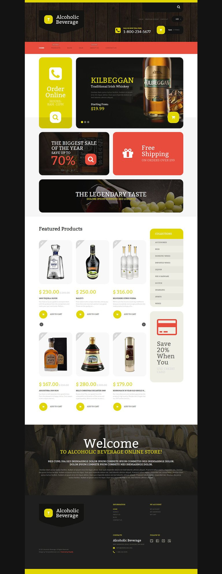 Alcoholic Beverage Store Shopify Theme New Screenshots BIG