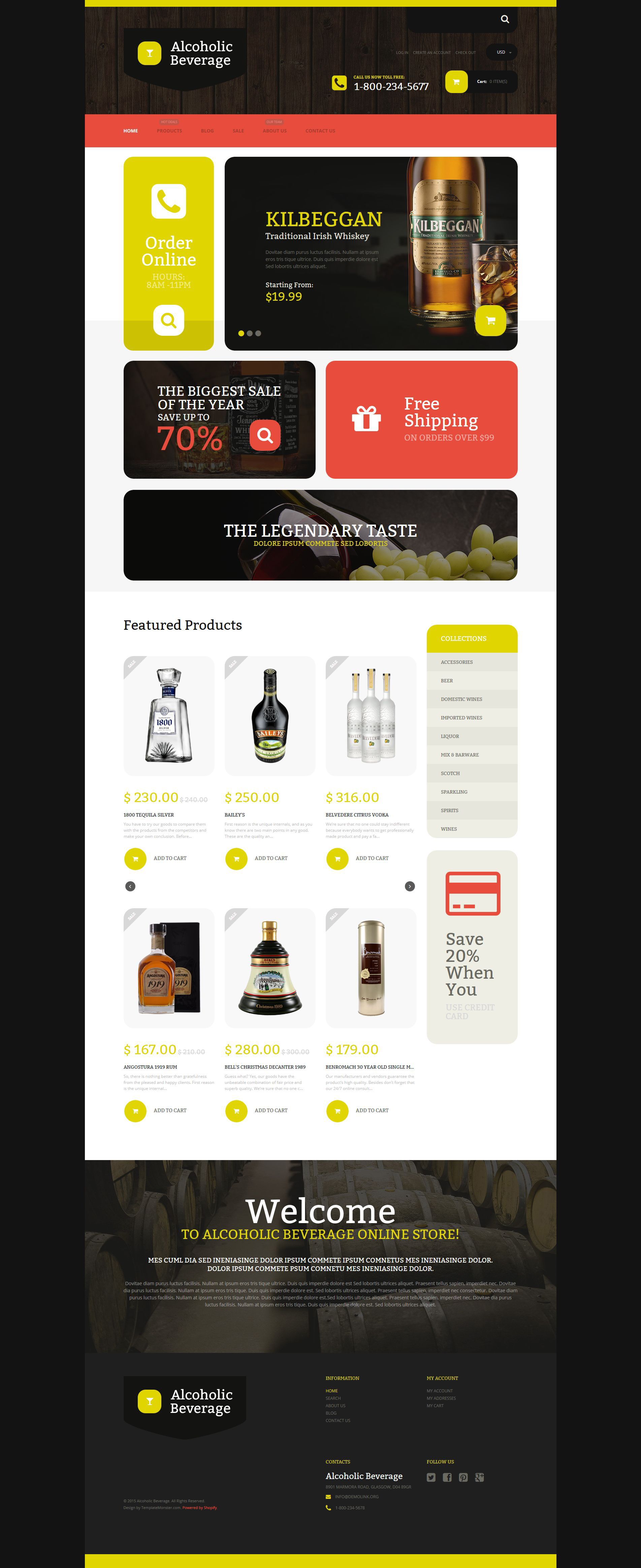 Alcoholic Beverage Store Shopify Theme - screenshot