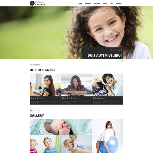 Fashion For Children - Responsive Drupal Template
