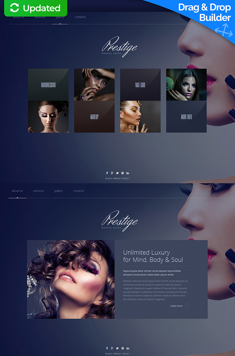 Beauty Salon Responsive Moto CMS 3 Template