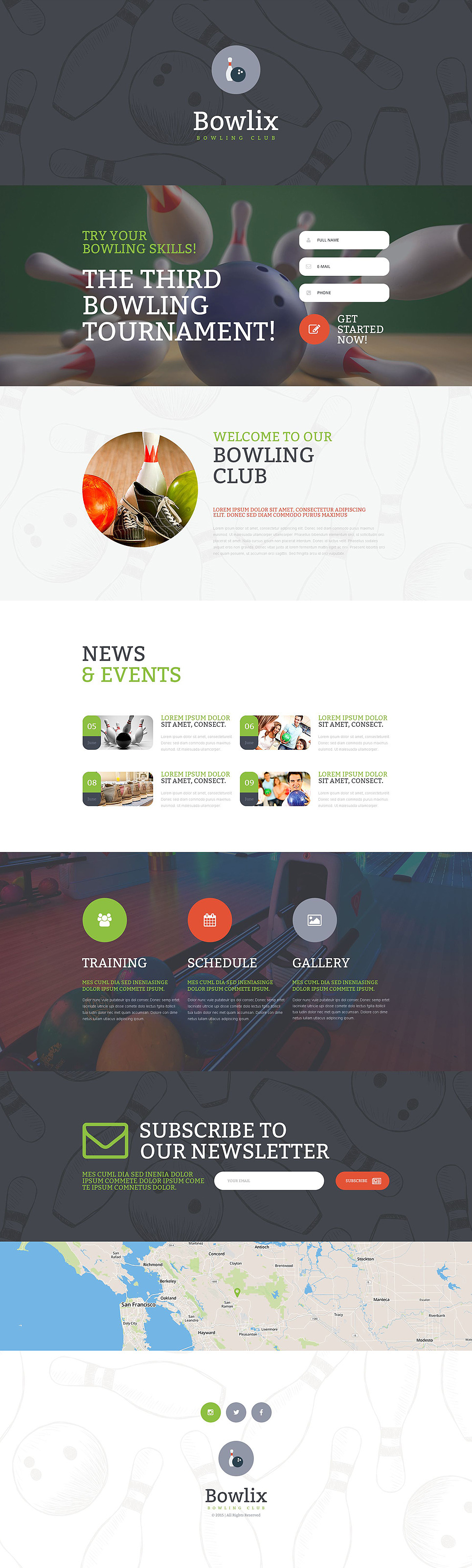 Bowling Responsive Landing Page Template New Screenshots BIG
