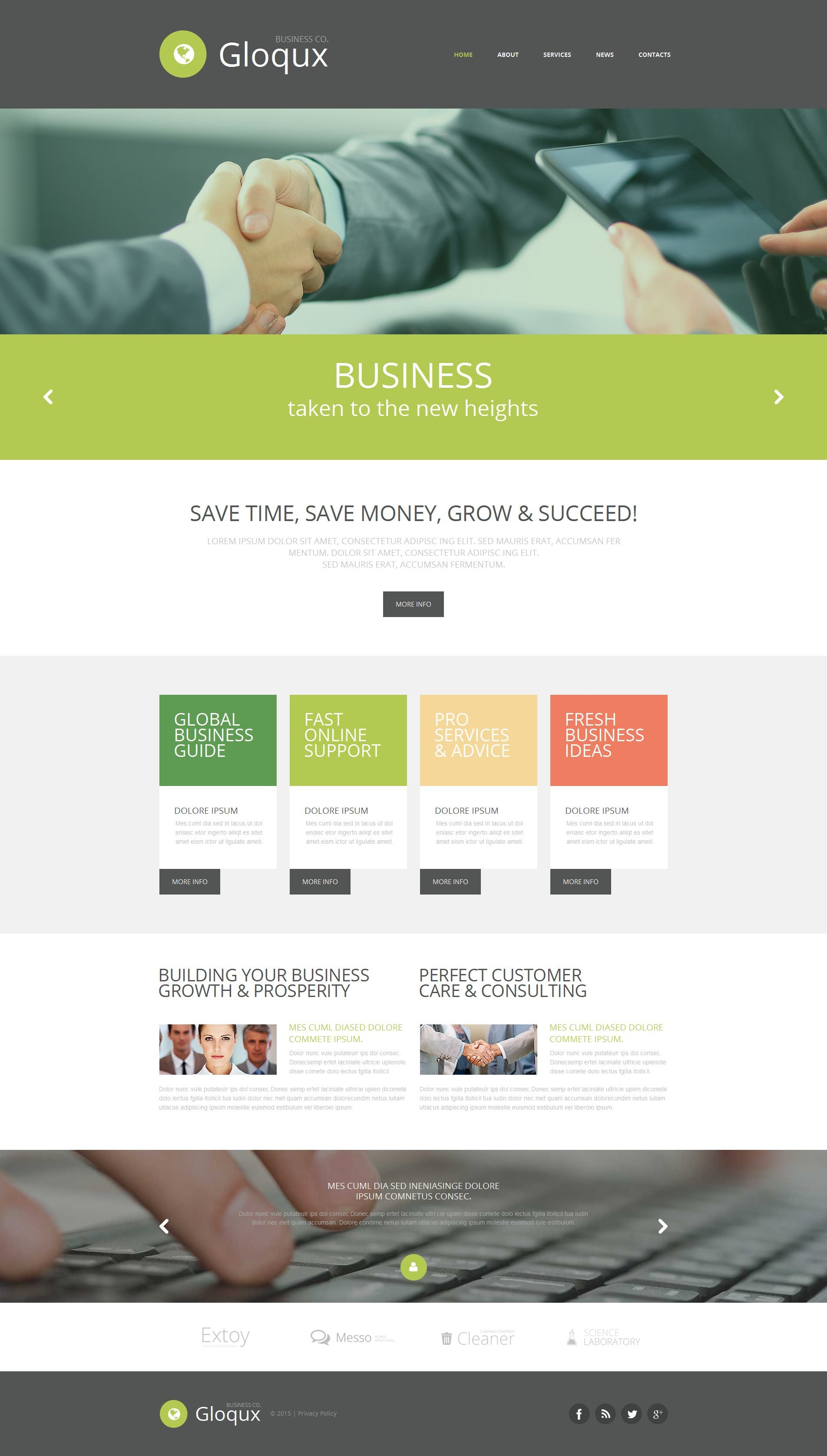 Business & Services Moto CMS HTML Template