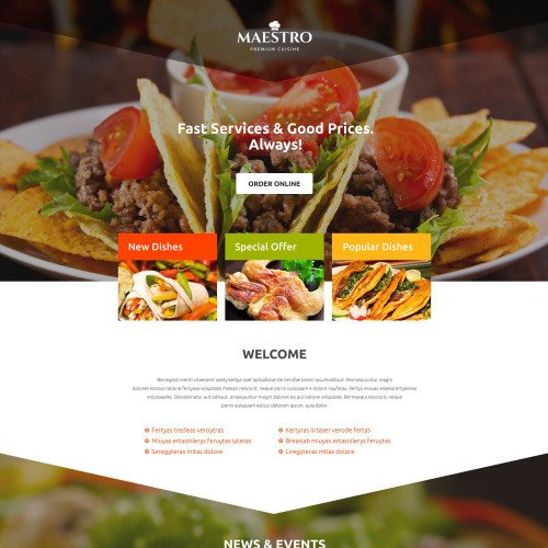 Maestro - Responsive Landing Page Template