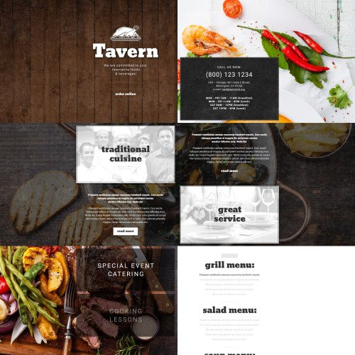 Tavern - Responsive Landing Page Template