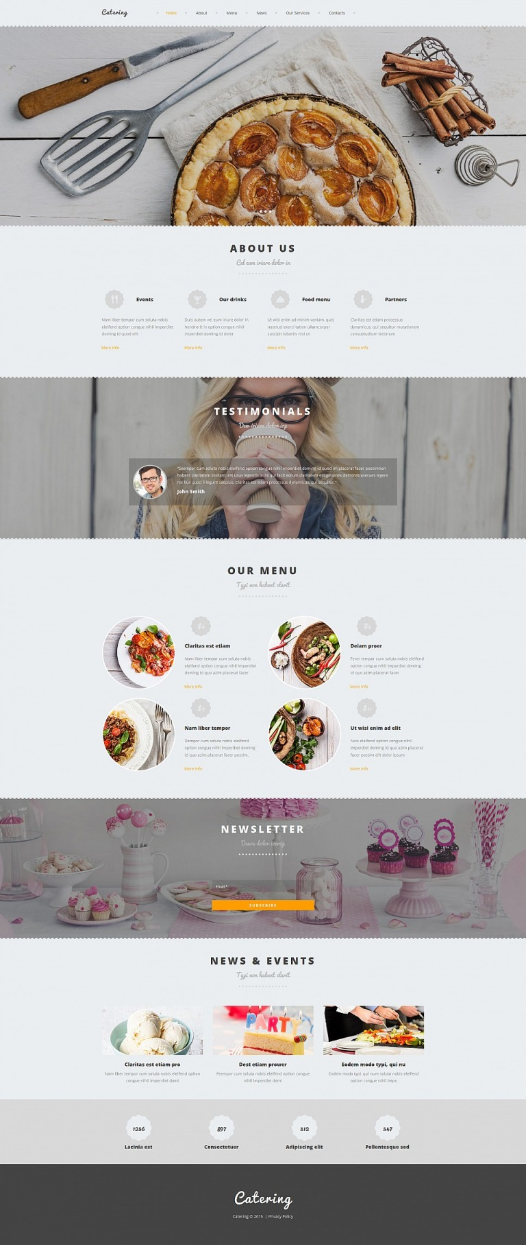Catering Responsive Moto CMS 3 Template New Screenshots BIG