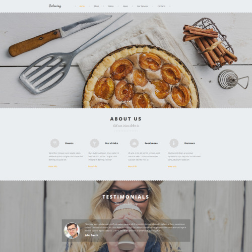 Catering - MotoCMS 3 Template based on Bootstrap