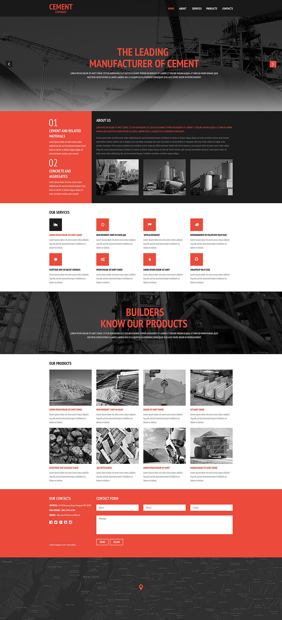 Cement Company Web Template