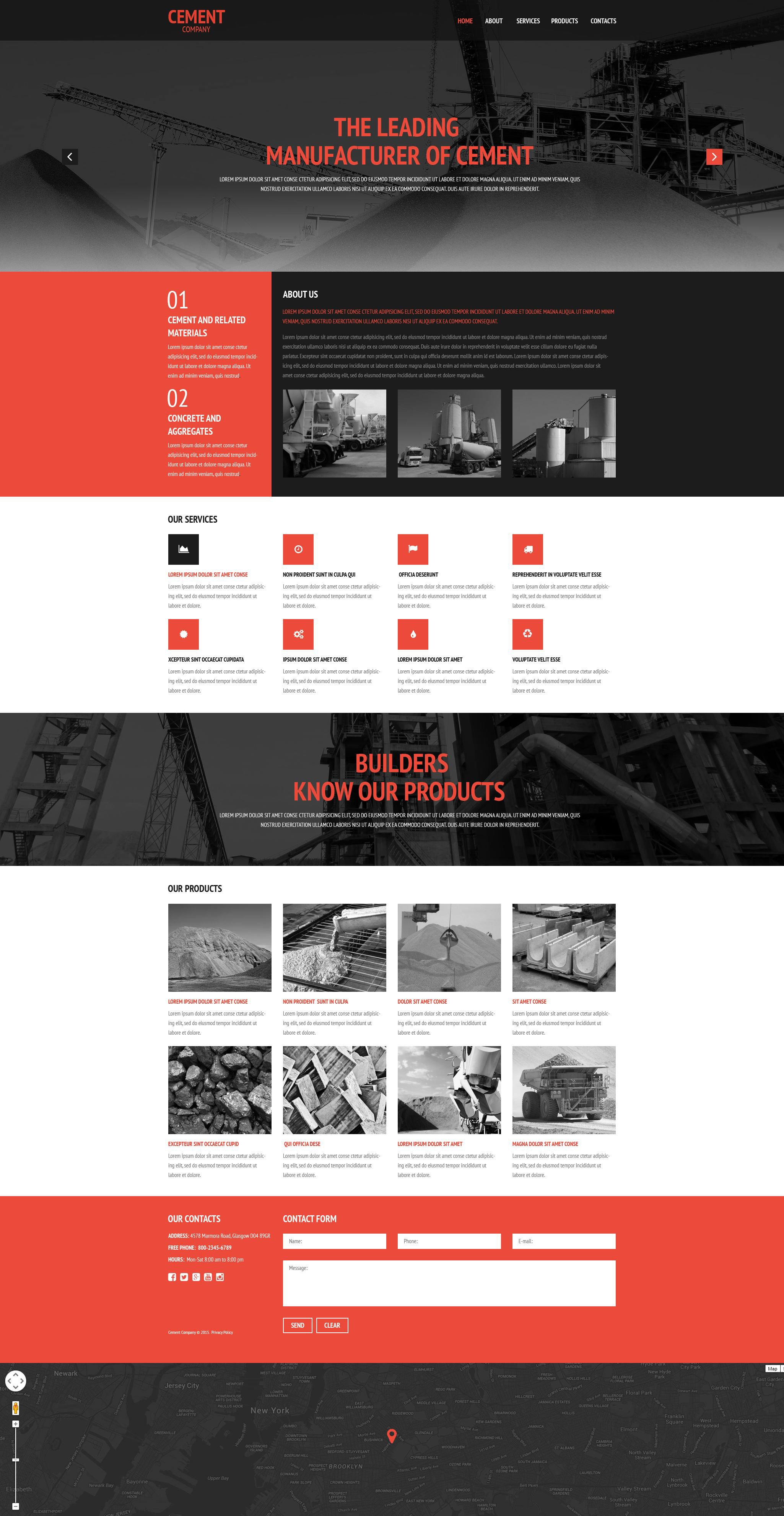 Cement Coating Website Template - screenshot