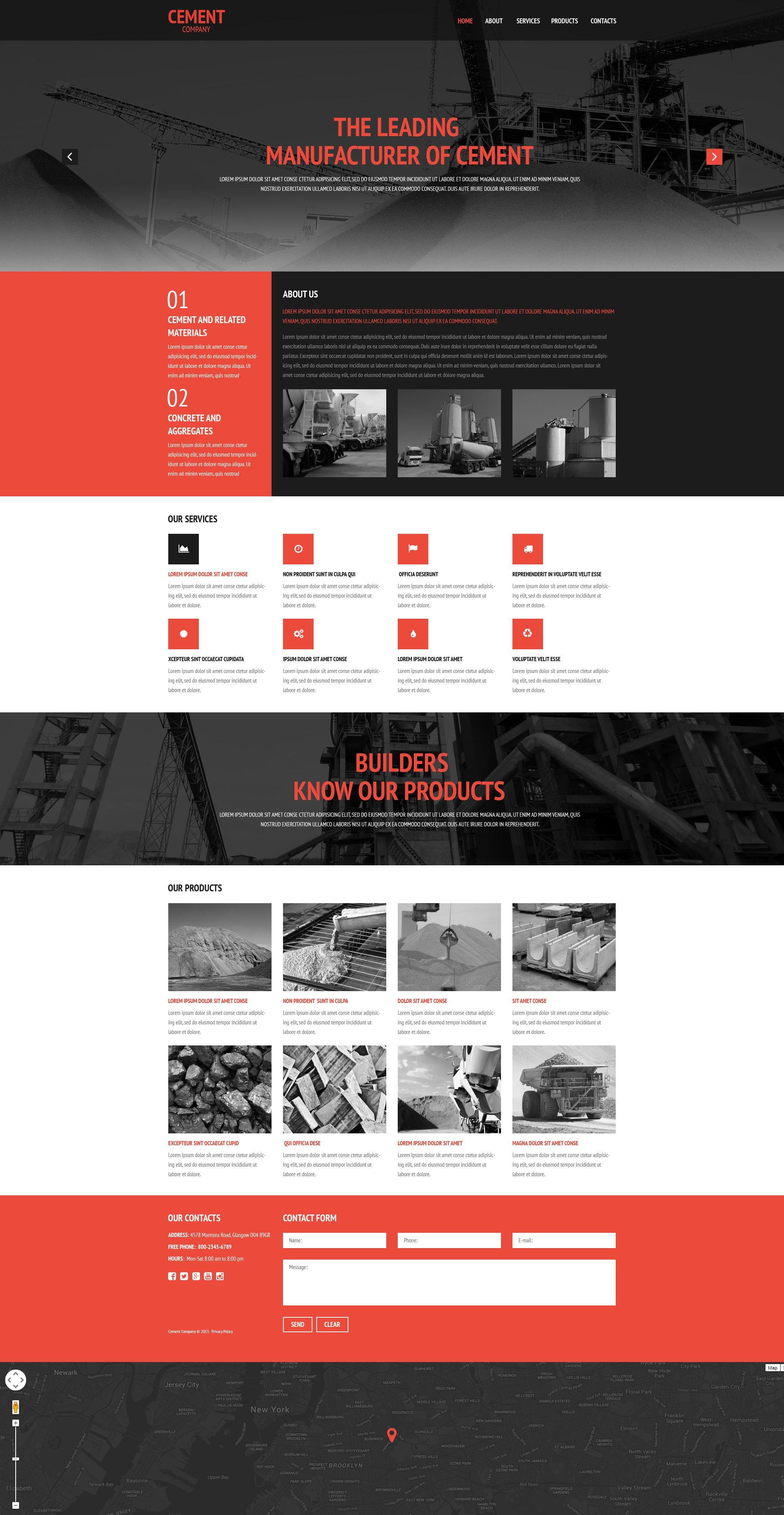 Cement Coating Website Template