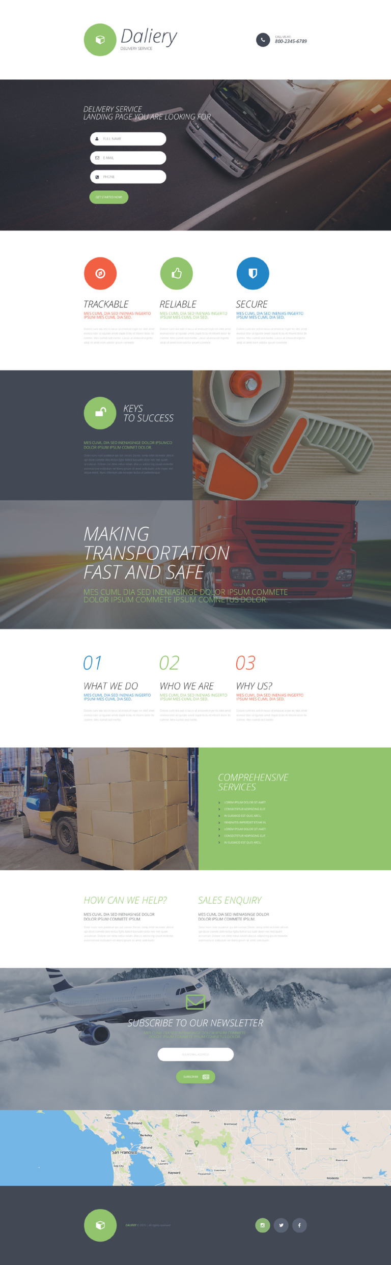 Delivery Services Responsive Landing Page Template New Screenshots BIG