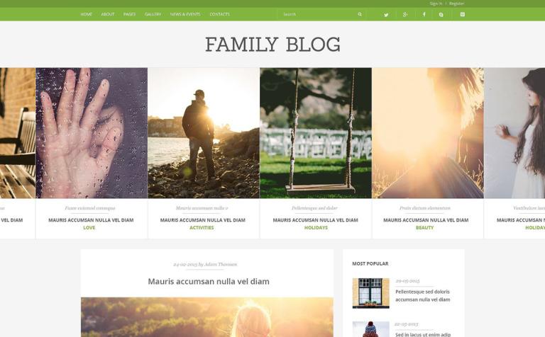 Family Blog Joomla Template