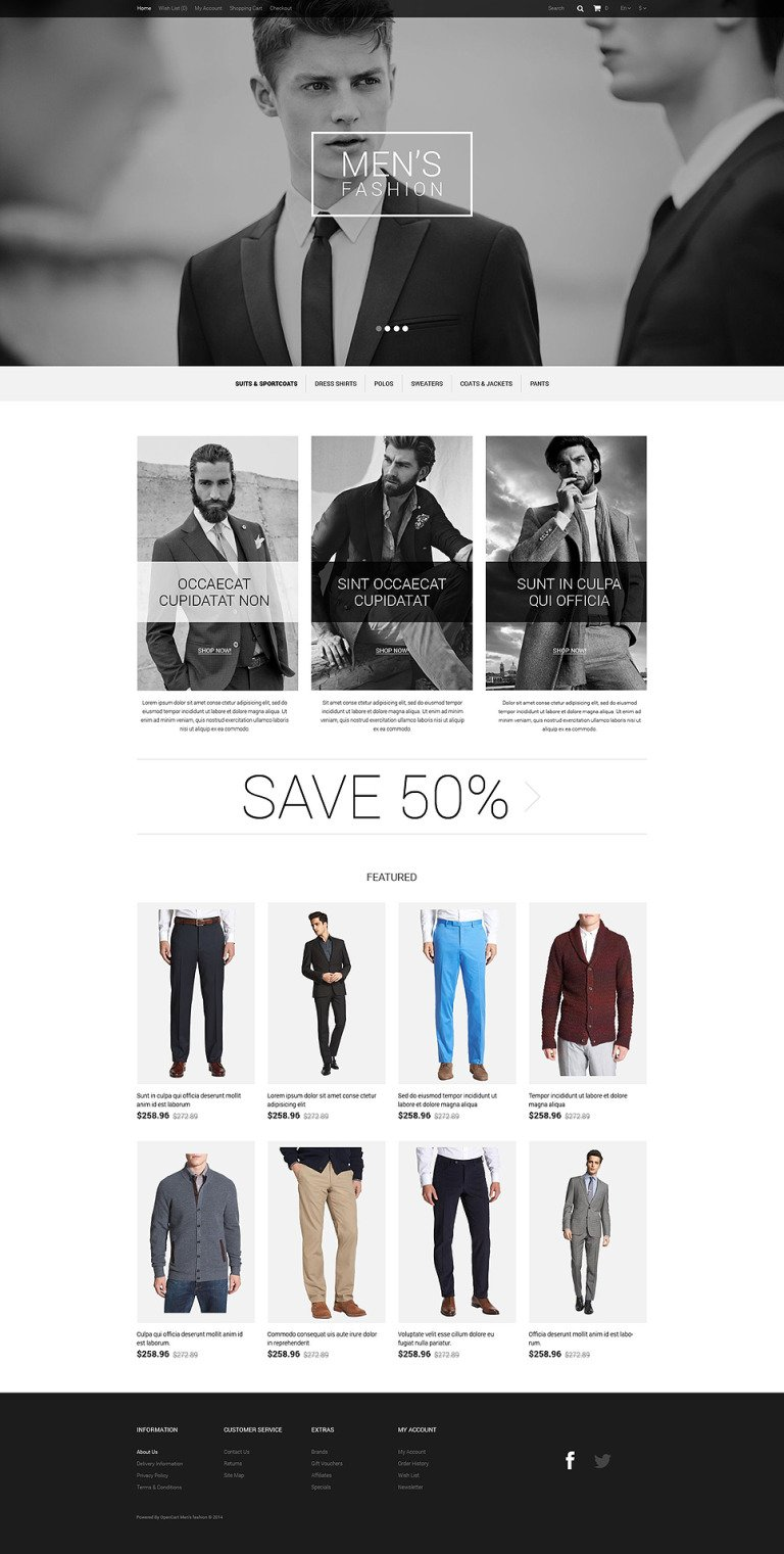 Fashion Store Responsive OpenCart Template New Screenshots BIG