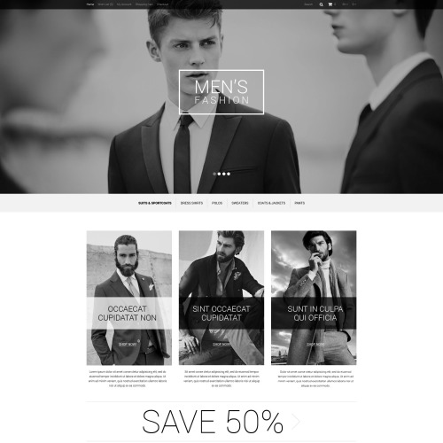 Men's Fashion  - OpenCart Template based on Bootstrap