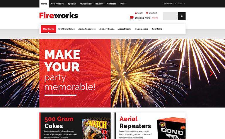 Fireworks Shop ZenCart Template