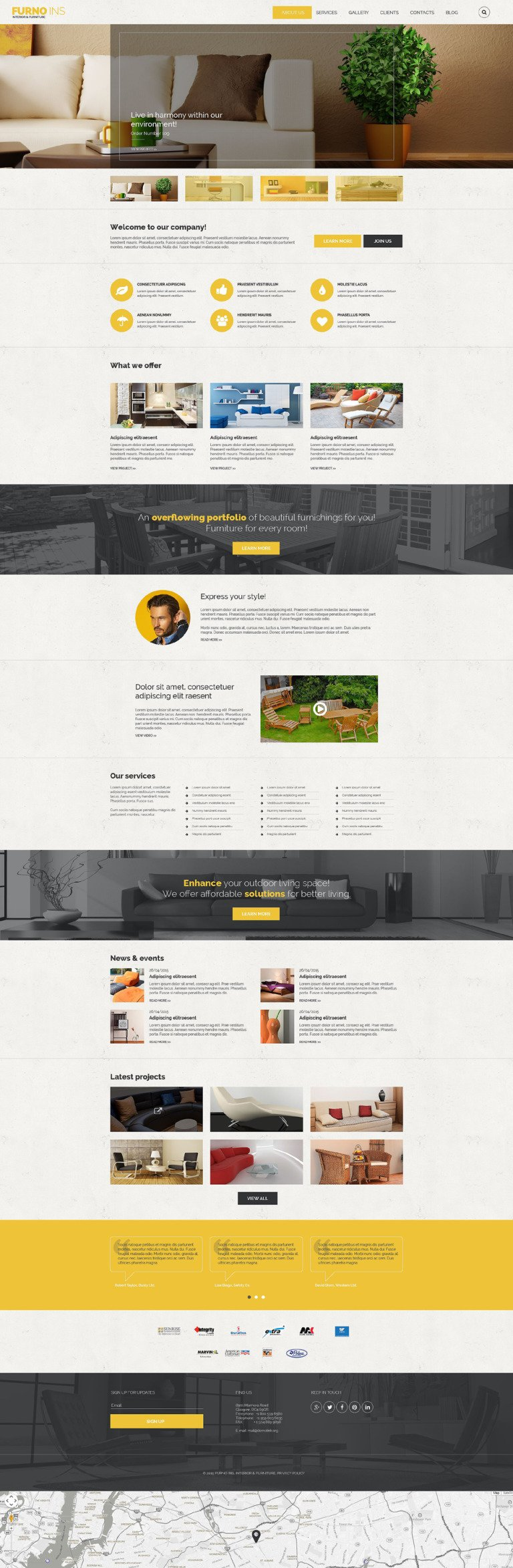 FURNO INS Drupal Template New Screenshots BIG