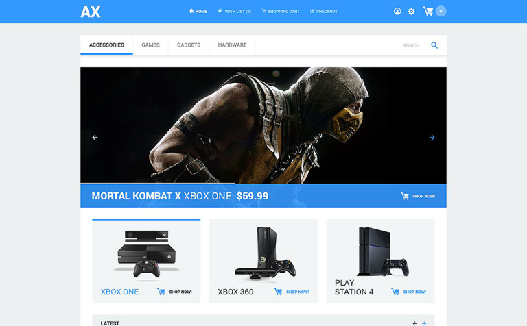 Games and Consoles Store Template OpenCart №54601 eb586b6cb34f7