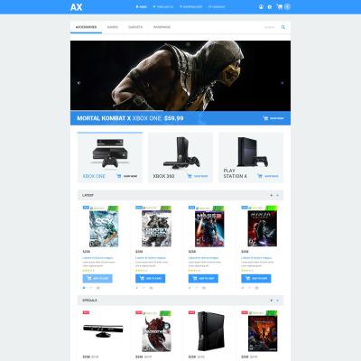 Thème OpenCart adaptatif  pour site de jeux
