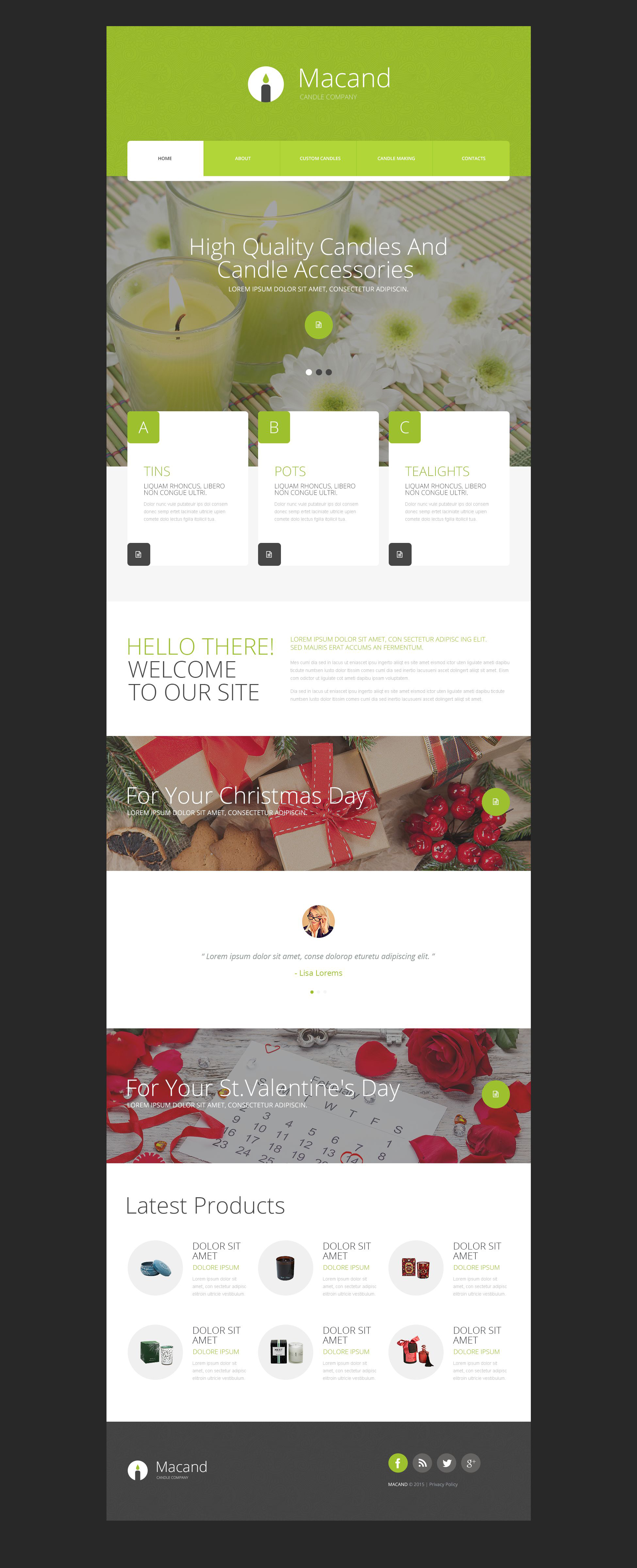 Gifts Store Template Web №54685
