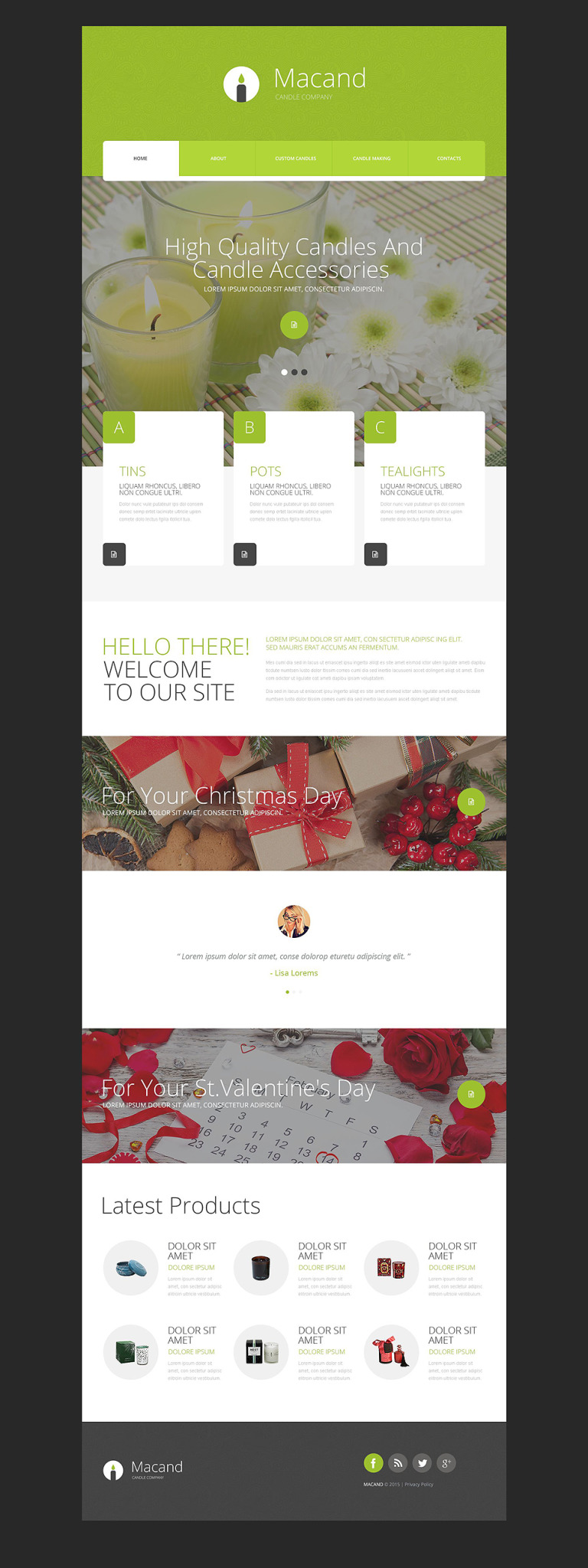 Gifts Store Website Template New Screenshots BIG