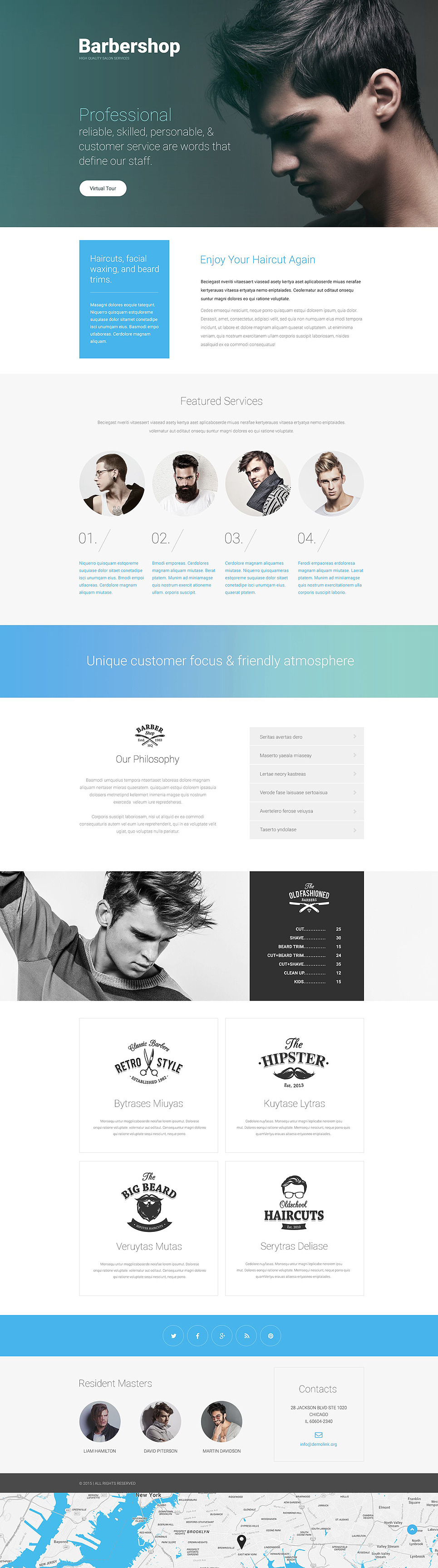 Hair Salon Responsive Landing Page Template New Screenshots BIG