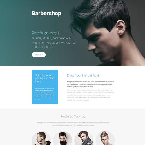Barbershop - Responsive Landing Page Template