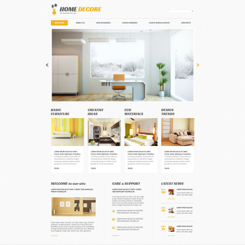 Home Decore - WordPress Template based on Bootstrap