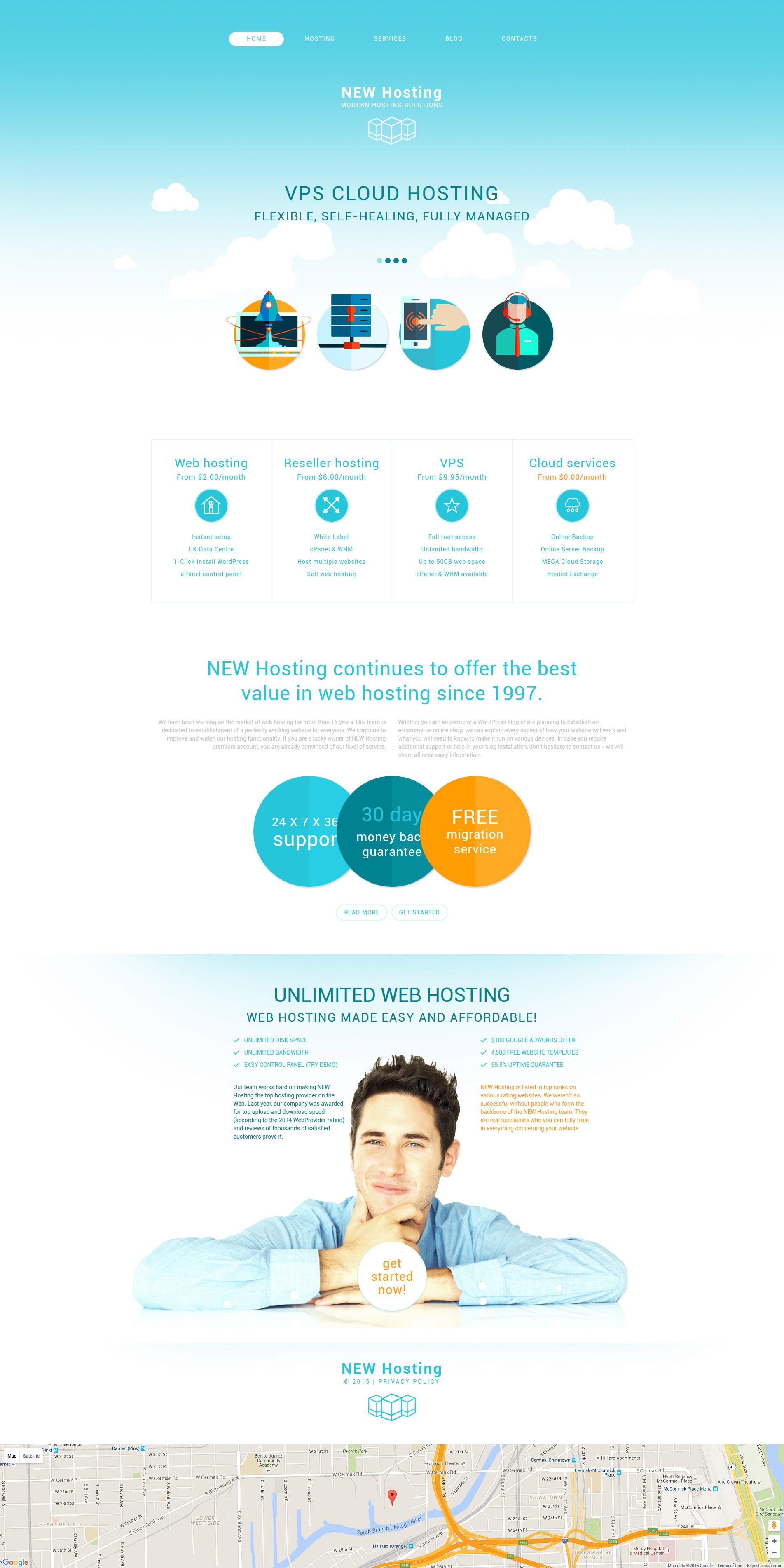 """""""Hosting"""" - адаптивний Drupal шаблон №54609"""
