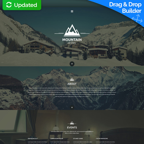 Mountain Hotel - MotoCMS 3 Template based on Bootstrap