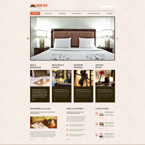 Hotels - WordPress Template based on Bootstrap