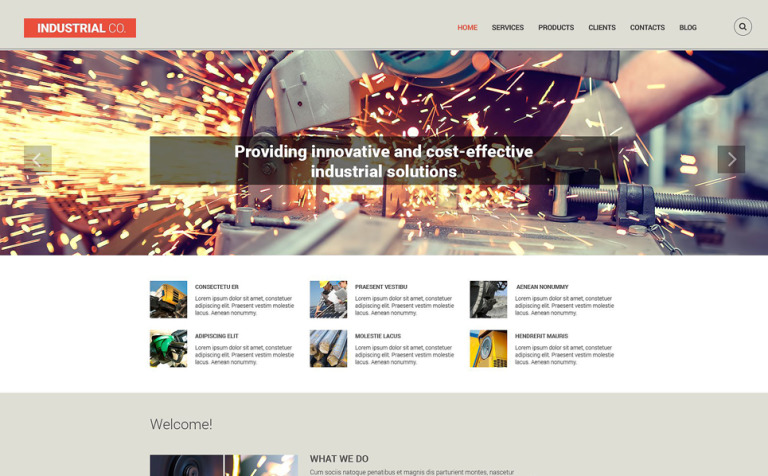 Industrial Co. Drupal Template