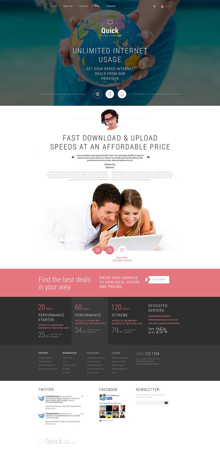 Internet Joomla Template New Screenshots BIG