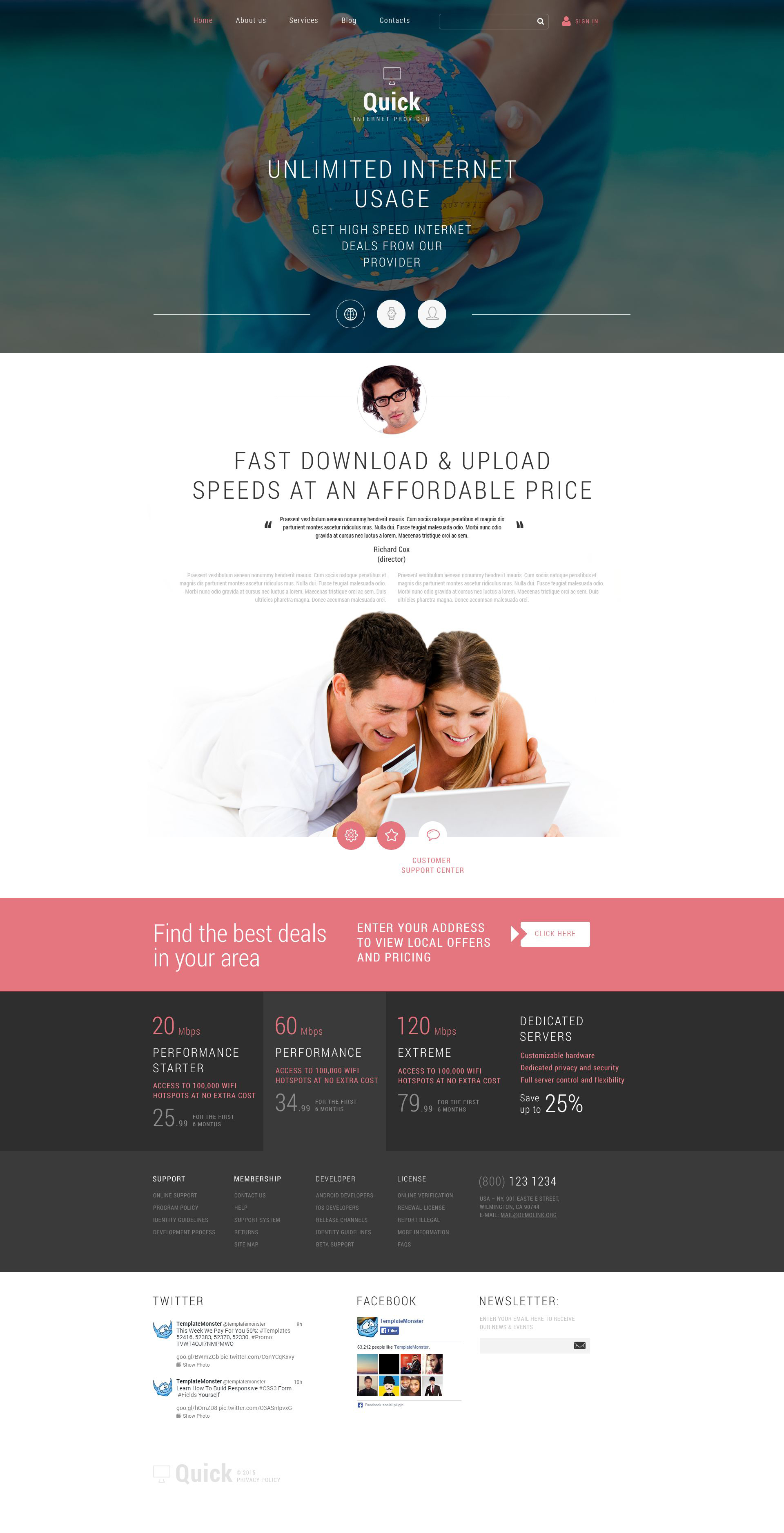 Internet Joomla Template