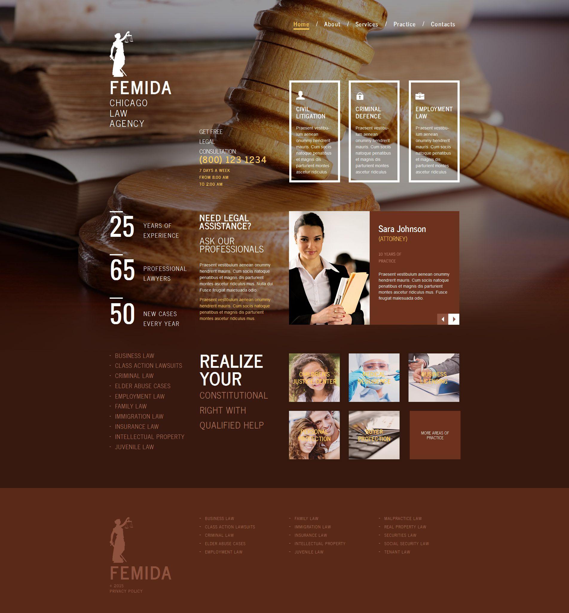 Law Firm Moto CMS HTML Template - screenshot