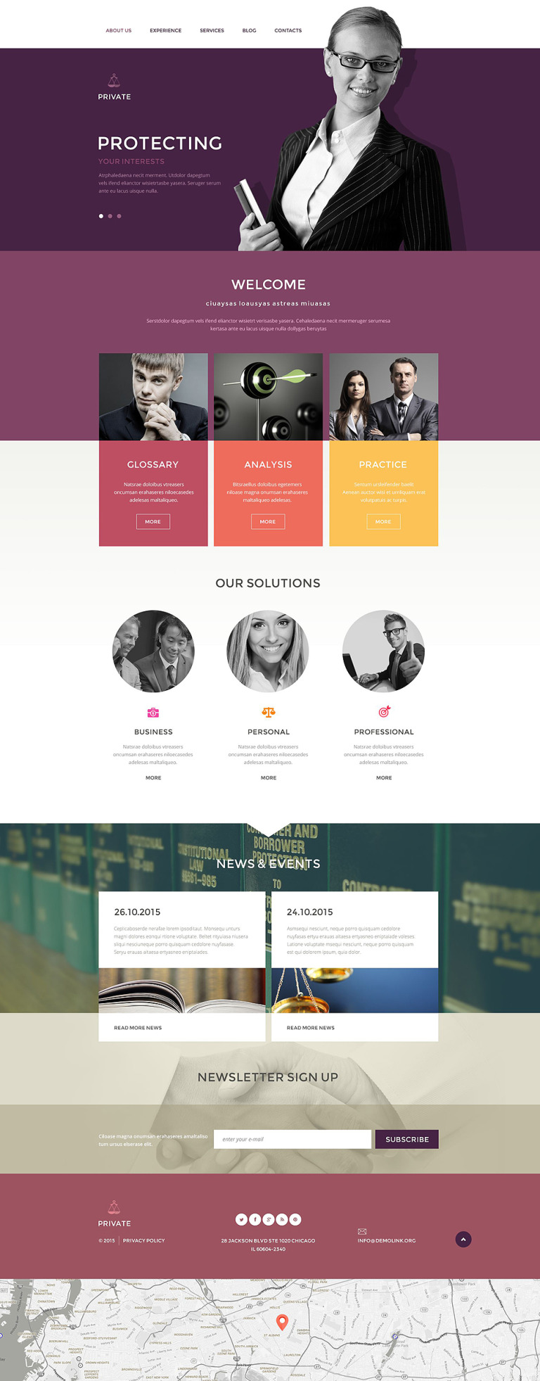 Law Office Drupal Template New Screenshots BIG