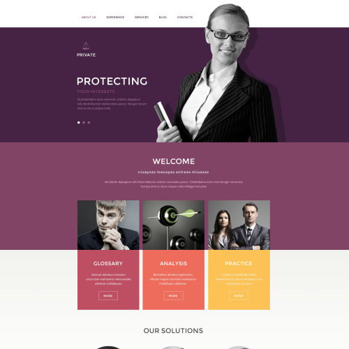 Private - Responsive Drupal Template