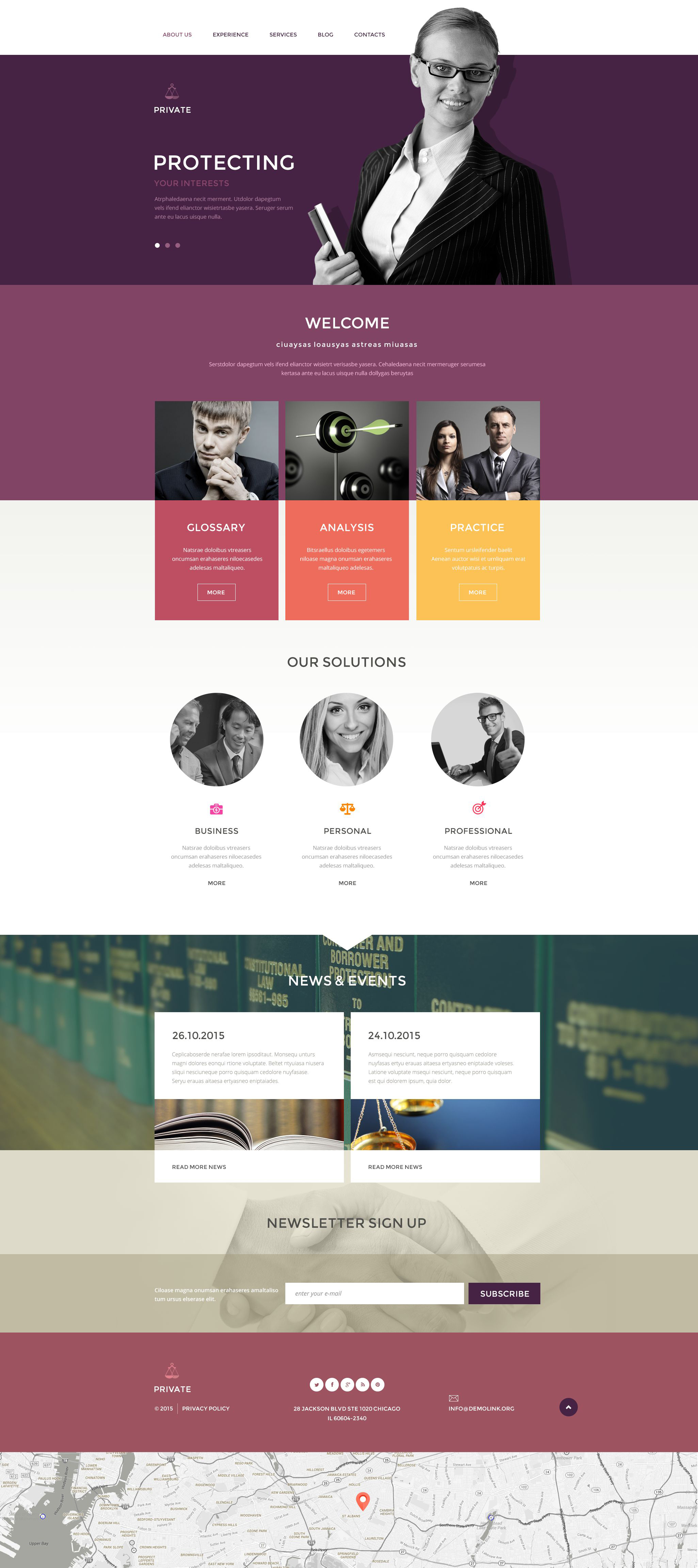 Law Office Template Drupal №54611